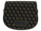 Dooney & Bourke - Shadow Signature Small Messenger (Black/Black/Gold W/Black Trim) - Bags and Luggage