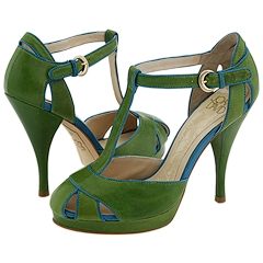 Joan & David - Joey (Medium Green/Medium Blue Leather) - Footwear