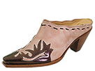 Charlie One Horse by Lucchese - Wingtip Slide (Dusty Rose With Patent Print) - Footwear