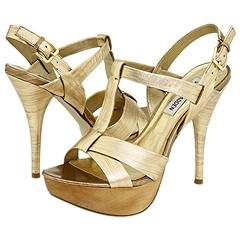 Steve Madden Witney (Gold Leather) - Women's Dress :  fashion dress heels shoes
