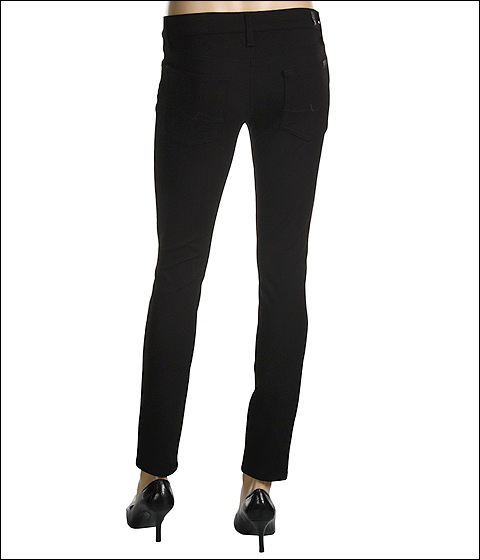 7 For All Mankind - Gwenevere Double Knit Stretch Pant (Black) - Apparel