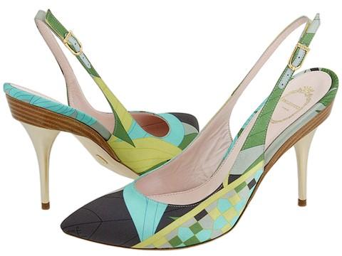 Emilio Pucci - Cooper Slingback (Sky) - Footwear