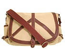 Lucky Brand - Peace Keeper Solid Messenger (Khaki) - Bags and Luggage