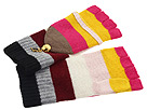 Juicy Couture - Couture Stripe Pop Top Mitten (Rainbow) - Hats