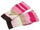 Juicy Couture - Couture Stripe Pop Top Mitten (Iconic Pink) - Hats