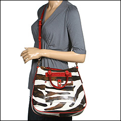 Dooney & Bourke Zebra Tear Drop Hobo at Zappos.com from zappos.com