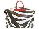 Dooney & Bourke - Zebra Juliette Bag (Red Trim) - Bags and Luggage