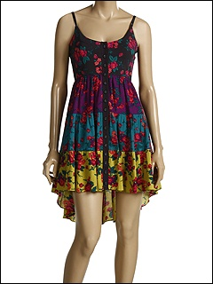 Betsey Johnson Multicolor Painted Roses Sleeveless Dress at 6pm.com