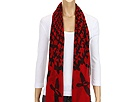 Alexander McQueen - SL Magpie Circle Scarf 2289843010Q (Red/Black) - Accessories