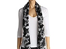 Alexander McQueen - SL Dogtooth Skeleton Scarf 2300603010Q (Black/White) - Accessories