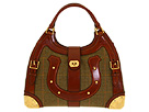 Alexander McQueen - Horse Shoe Tote 228060FRQ1O (Rust) - Bags and Luggage