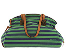 Dooney & Bourke - Horizon Stripe Large Duffle (Green/Navy) - Bags and Luggage