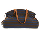 Dooney & Bourke - Horizon Stripe Large Duffle (Navy/Brown) - Bags and Luggage