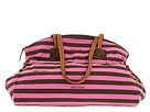 Dooney & Bourke - Horizon Stripe Large Duffle (Pink/Brown) - Bags and Luggage