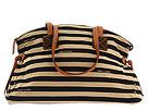 Dooney & Bourke - Horizon Stripe Large Duffle (Black/Tan) - Bags and Luggage