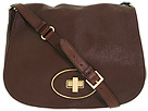 Cole Haan - Saddle Crossbody Flap Bag (Chestnut) - Bags and Luggage