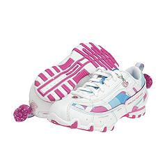Skechers Kids - Bikers (White/Pink) - Kids