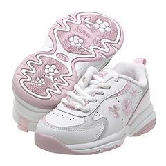 Stride Rite - Sparkle II (White/Pink) - Kids