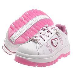 Skechers Kids - Shindigs-Kicks (Youth) (White Alpine/Hot Pink)