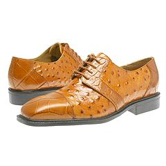 Giorgio Brutini 15611 (Rust Miss Croco & Ostrich Print) - Lace-Up/Oxford