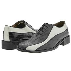 Stacy Adams Larenzo (Black Snake/White) - Exotic Lace-Up/Oxford