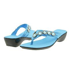 Geox - D Soul Thong Satin (Turquoise) - Women's