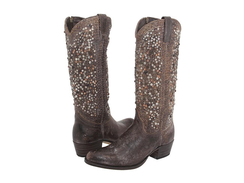 Frye Deborah Studded Tall (Grey) Western Boots