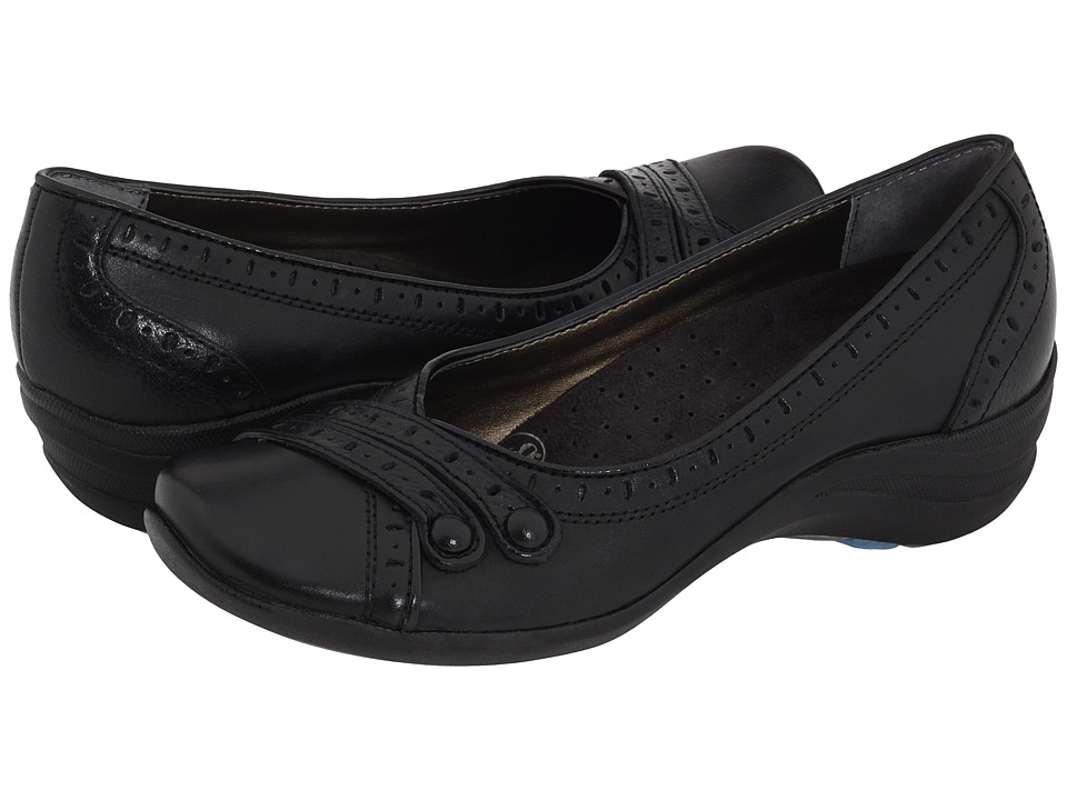 Hush Puppies - Burlesque (Black Leather) Women's Slip on  Shoes