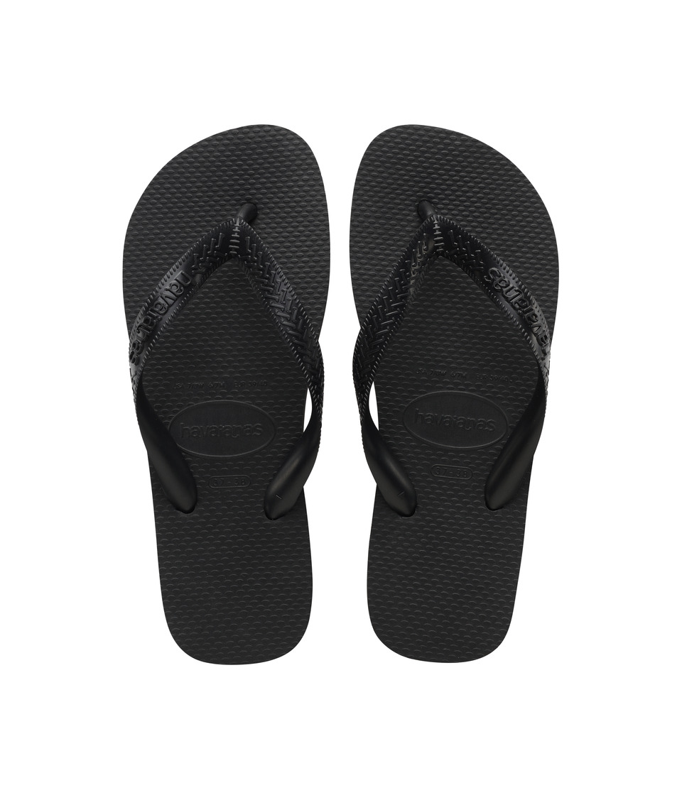 Havaianas Top Flip Flops (Black) Sandals