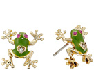 Betsey Johnson - Jungle Book Frog Stud Earrings