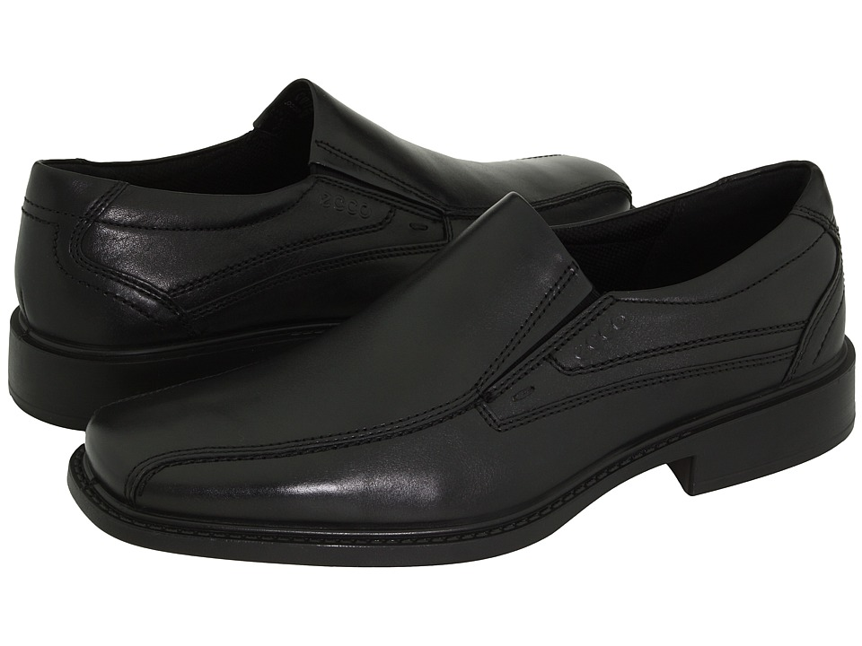 ECCO New Jersey Slip-On (Black Santiago Full-Grain Leather) Men