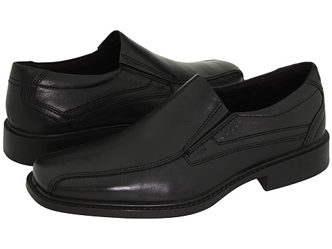ECCO - New Jersey Slip-On (Black Santiago Full-Grain Leather) - Footwear