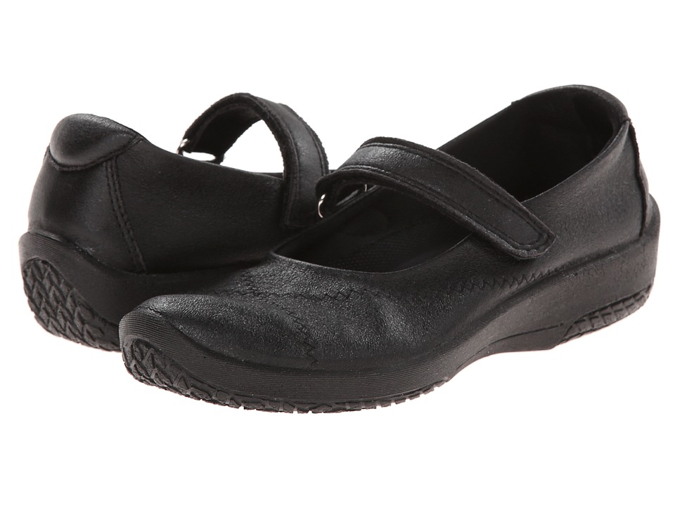 Shop Arcopedico online and buy Arcopedico L18 Black Women's Maryjane Shoes - The Vegan L18 mary jane from Arcopedico will fit perfectly with your on-the-go lifestyle.Leather-look or faux suede Lytech upper with an adjustable mary jane strap and elasticized collar for a snug, secure fit.Lytech is a stylish and comfortable blend of Lycra and polyurethane that is water resistant and breathable.The Lytech material stretches and forms to the foot so it's great for hammertoes and bunions.Utilizes Arcopedico's patented twin arch system which supports the arch of the foot for the life of the shoe.Removable textile insole provides all-day cushioned comfort and lets you add a personal orthotic.Durable synthetic outer sole absorbs impact and provides grip for a confident stride.Vegans can wear these shoes proudly since no animal products were used in the manufacturing process.All of the 'L' shoes from Arcopedico are very flexible and lightweight which make them ideal for travel.There's no need to worry about getting them dirty because you can toss them in the washing machine and let them air dry. Measurements:Heel Height: 1 inWeight: 5 ozProduct measurements were taken using size 36 (US Women's 5.5-6), width M. Please note that measurements may vary by size.