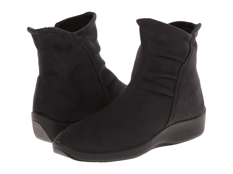 Arcopedico L19 (Black Faux Suede) Women's Zip Boots