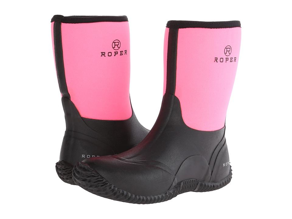 Roper Barnyard Boot (Black/Pink) Cowboy Boots