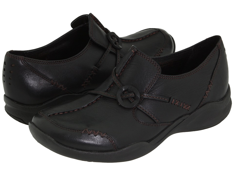 Clarks - Wave.Run (Black Leather) Womens  Shoes