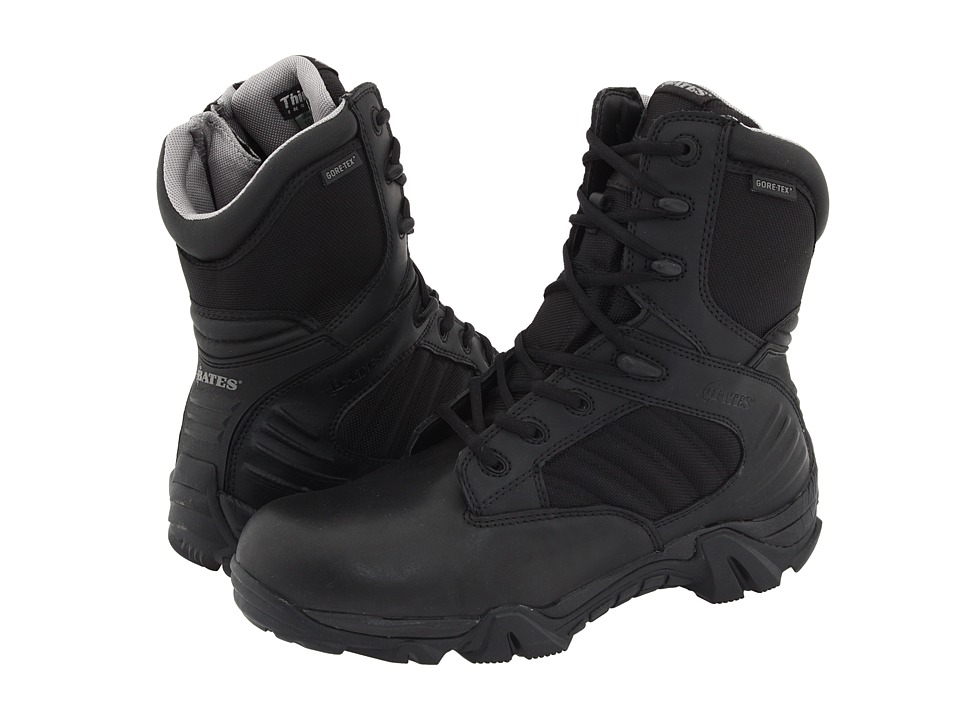 Bates Footwear GX 8 GORE TEX Side Zip Boot Black Mens Work Boots