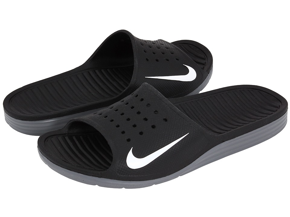 20e611eb392b53 ... UPC 826216283828 product image for Nike - Solarsoft Slide (Black White) Men s  Sandals