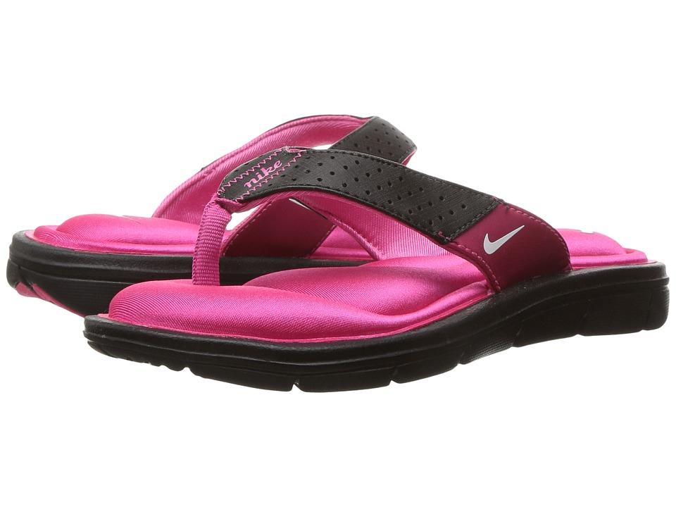 Nike Comfort Thong (Black/White-Vivid Pink) Sandals