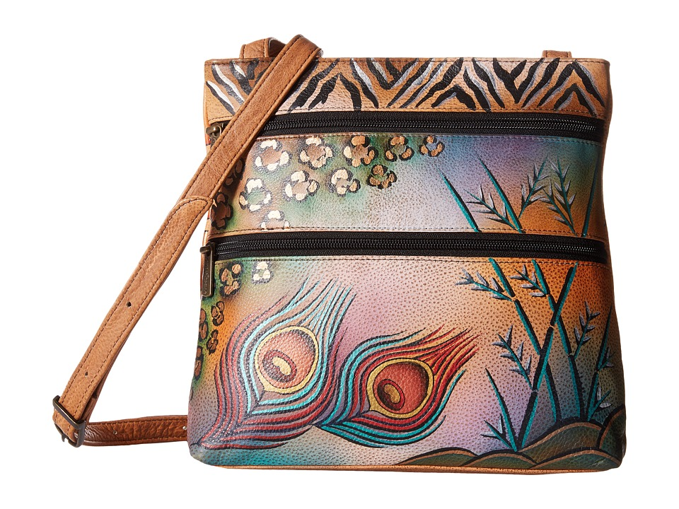 Anuschka Handbags - 447 (Peacock Safari) Cross Body Handbags