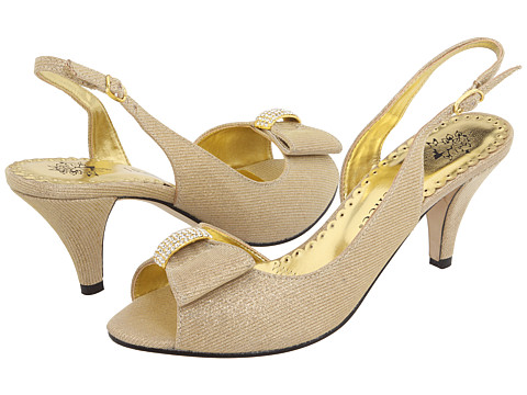 J. Renee - Dayna (Gold Glimmer Fabric) - Footwear