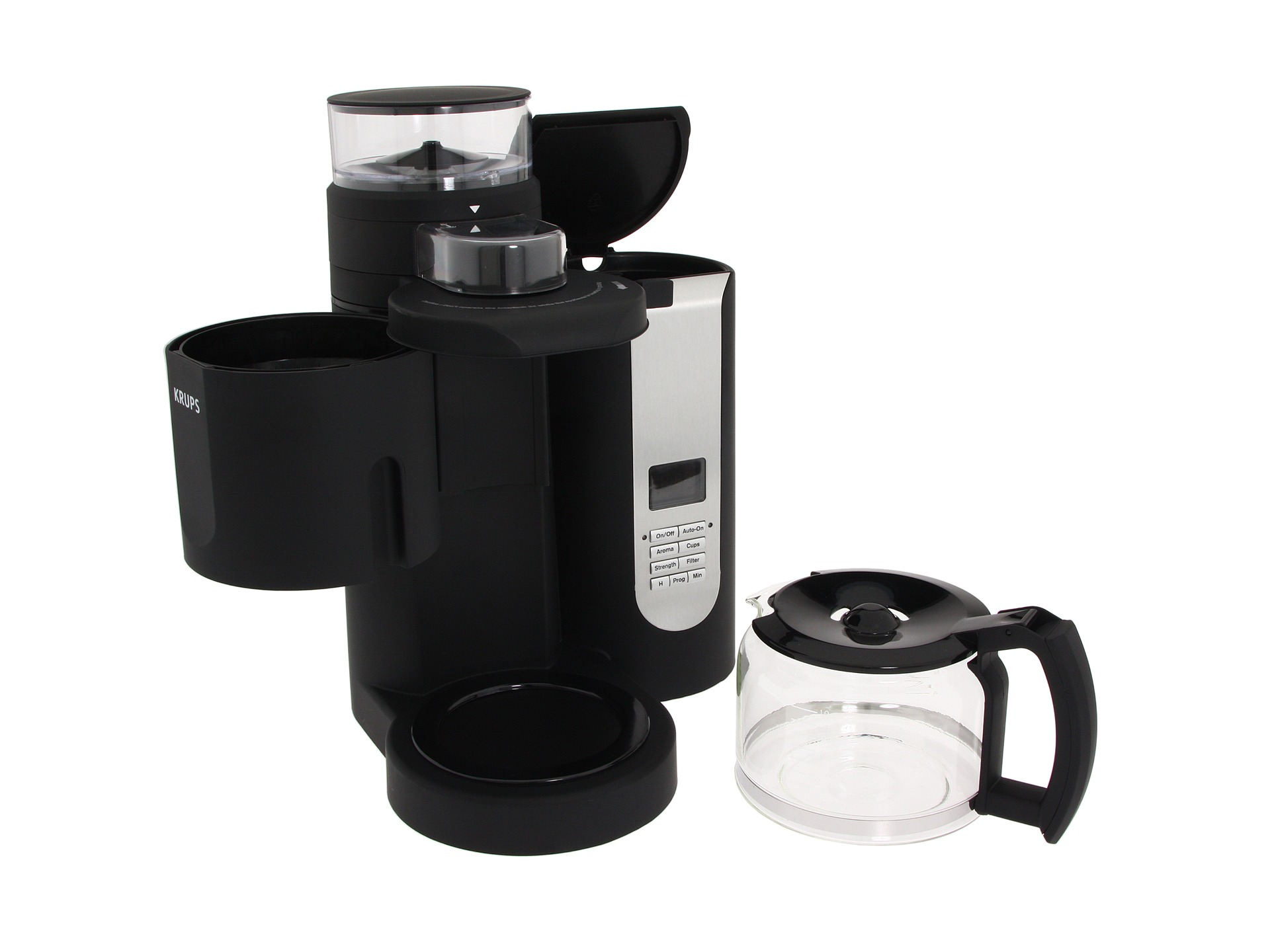 Krups Km 700 Grind And Brew Coffee Maker : Krups Km7000 Pro Grinder Brewer Black, Eyewear Shipped Free at Zappos