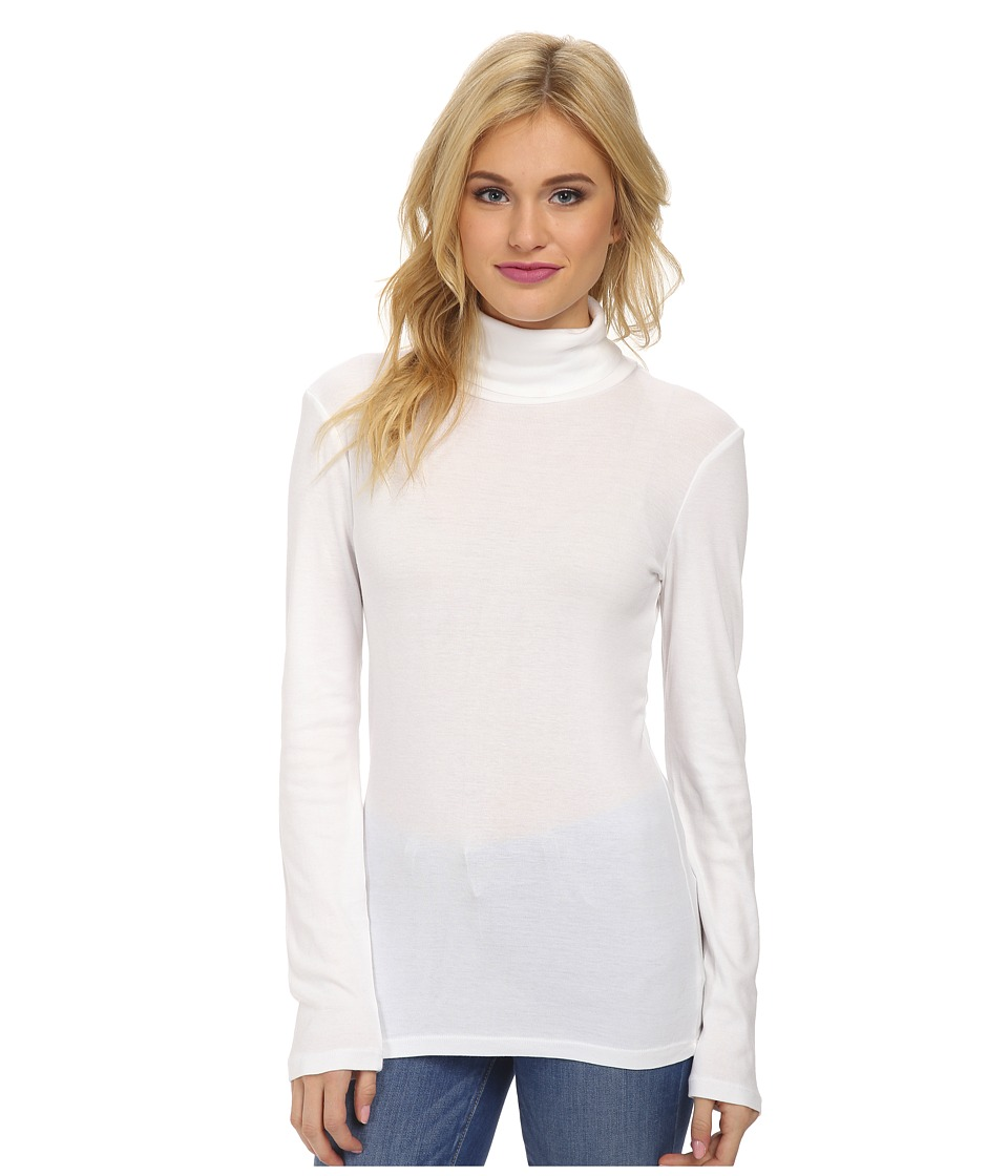 Splendid 1x1 Long Sleeve Turtleneck (White) Women