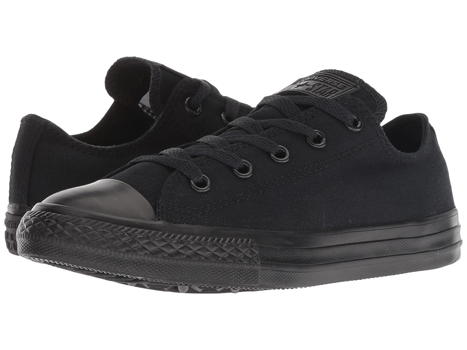 Converse Kids Chuck Taylor All Star Core Ox (Little Kid) (Black Monochrome) Kids Shoes