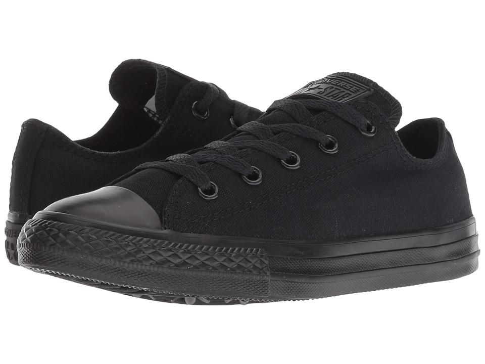 Converse Kids Chuck Taylor(r) All Star(r) Core Ox (Little Kid) (Black Monochrome) Kids Shoes