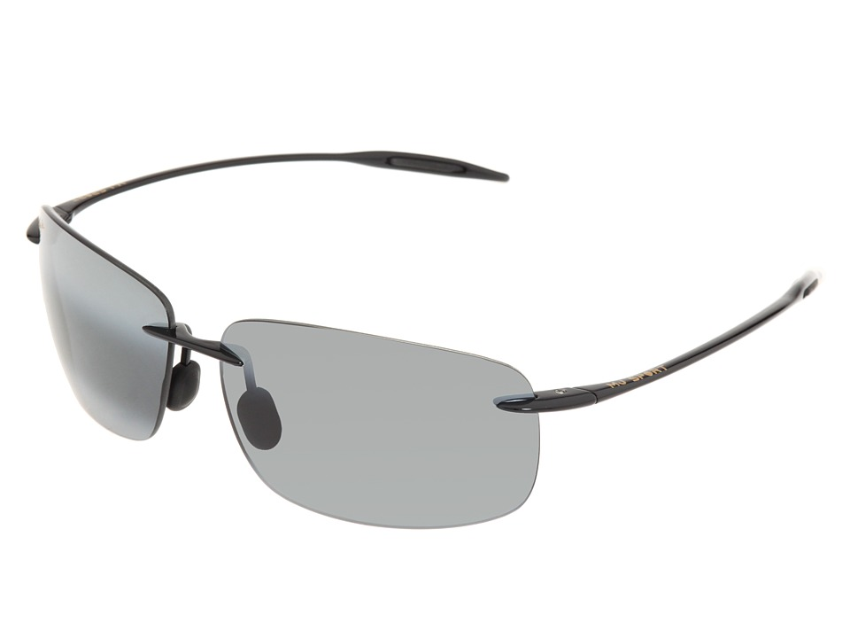 Maui Jim - Breakwall (Gloss Black/Neutral Grey Lens) Sport Sunglasses