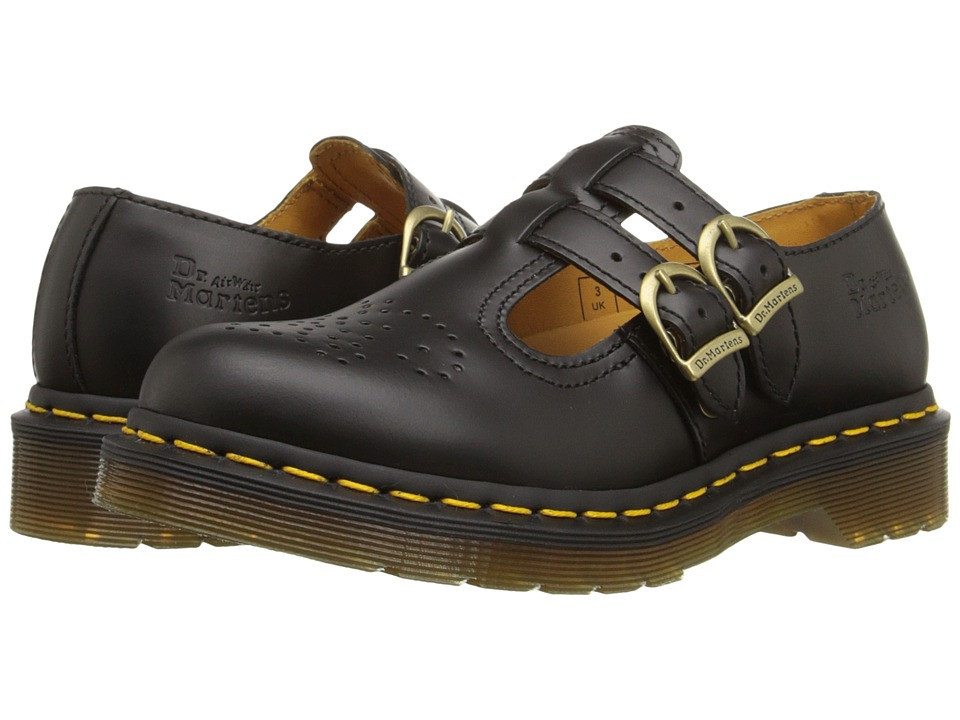 Dr. Martens - 8065 (Black Smooth) Womens Maryjane Shoes