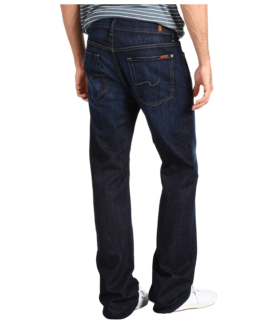7 For All Mankind Austyn Relaxed Straight 36 Long in Los Angeles Dark (Los Angeles Dark) Men
