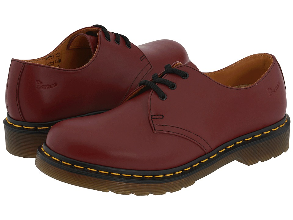 Dr. Martens 1461 3-Eye Gibson (Cherry Red Smooth)