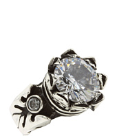 King Baby Studio - 13mm Crown Ring with Clear CZ Stone